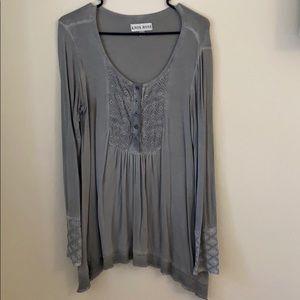 Knox Rose Gray Long Sleeve Shirt